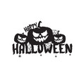 happy halloween text banner or label vector image