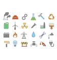 Industry work colorful icons set vector image