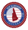 Label sticker cards of State New Hampshire USA vector image vector image