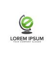 letter e globe logo design concept template fully vector image vector image