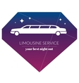 Limousine night service graphic icon sign in vector image