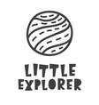 little explorer space travel scandinavian style vector image vector image