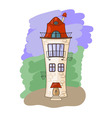 medieval house vector image vector image