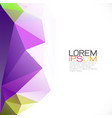 modern colorful geometric template on beside part vector image vector image