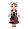 moldova historical clothes vector image