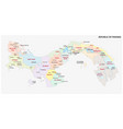 panama administrative and political map vector image vector image