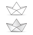 paper boat set icon vector image