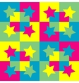 Pattern background with squares and stars vector image vector image