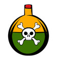 poison icon cartoon vector image vector image
