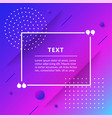 quote box isolated on trendy geometric background vector image vector image