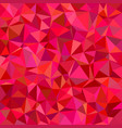 red triangle tile mosaic pattern background vector image vector image