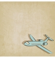 retro background with plane vector image vector image