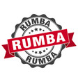 rumba stamp sign seal vector image vector image