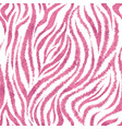 seamless pink zebra skin pattern glamorous zebra vector image vector image