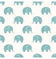 Seamless print with cute little elephants vector image
