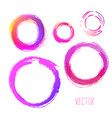 set hand drawn circles design elements vector image vector image