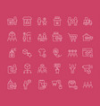 set line icons b2c vector image