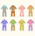 set pajamas with colorful vector image
