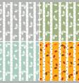 set seamless pattern birch trees vector image