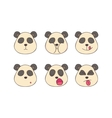Set smileys pandas vector image