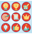 set with achievement and awards badges vector image vector image