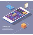 smart logistics conceptual composition vector image vector image