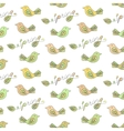 Spring seamless pattern with birds vector image vector image