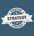 strategy ribbon strategy round white sign strategy vector image vector image