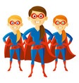 superhero woman supermom set cartoon character vector image