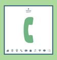 telephone handset telephone receiver symbol icon vector image vector image