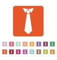 The tie icon Necktie and neckcloth symbol Flat vector image vector image