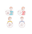 third party best manager and face id icons vector image vector image