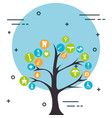 tree with medical healthcare icons vector image vector image