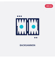 two color backgammon icon from gaming concept vector image vector image
