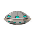 ufo flying spaceship isolated on white cartoon vector image vector image