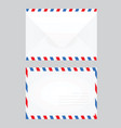 white closed post letter vector image vector image