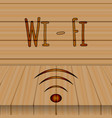wi-fi sign logo white letters the background of vector image vector image