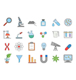 Laboratory colorful icons set vector image