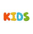 kids logo template vector image