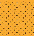 1980 style structured shape orange memphis pattern vector image