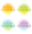 abstract watercolor summer grunge set isolated on vector image