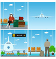 airport waiting room vector image vector image