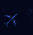 an abstract plane in the night sky vector image vector image