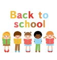 Back to school kids vector image