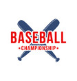 baseball background bats with lettering vector image