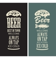 beer glasses from the inscriptions vector image vector image