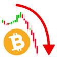 bitcoin epic fail trend flat icon vector image vector image