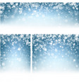 blue winter backgrounds with snowflakes vector image