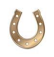 bronse horseshoe isolated on white vector image vector image