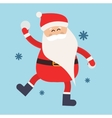 Cartoon Santa snowball game winter vector image